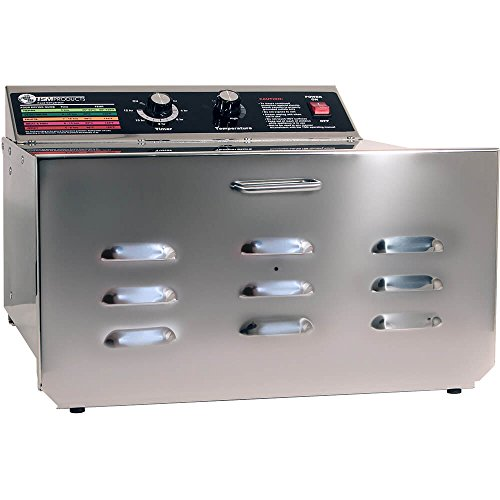 Check Out This TSM D-5 Stainless Steel Food Dehydrator with 1/4 Stainless Steel Shelves