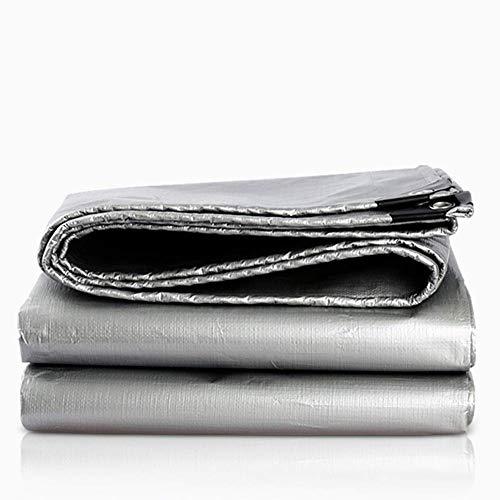 YXB schaduw zeilen schaduw doek schaduw net zon mesh canvas dekzeil waterdichte zonnescherm dikke en duurzaam huis outdoor fabriek gewijd FENGMING (kleur: Zilver, Maat : 3 * 6M) 2*3m ZILVER