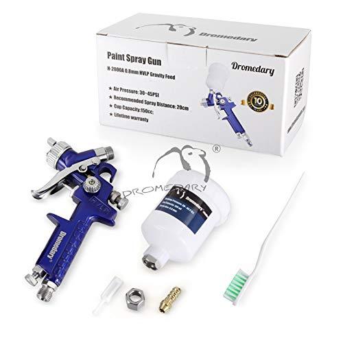 FLYN MINI HVLP Spritzpistole Lackierpistole Sprühpistole Druckluftpistole Farbspritzpistole Set mit 0,8mm Düse für Autolack