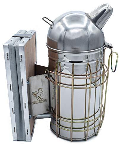 Ahumador de acero inoxidable Europeo para apicultor herramienta para espantar abejas con humo de apicultura