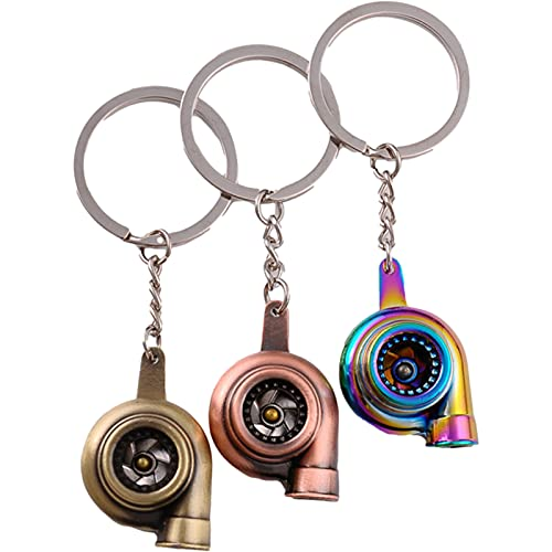 3 mini turbocompresor llavero, accesorios creativos de la bolsa del coche para regalos de cumpleaños de la familia