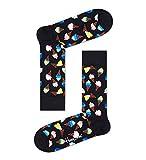 Happy Socks Ice Cream Sock Calcetines, Black, 3-7 (Size:36-40) para Mujer