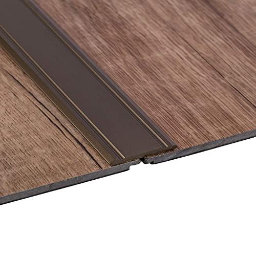 Gedotec Perfil de transición de aluminio superplano perforado | 2000 x 30 mm | Perfil de suelo de aluminio anodizado...