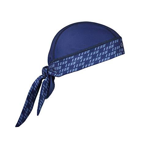 GripGrab Unisex– Erwachsene Bandana Multifunktionales Sommer Sport Kopftuch Dünne Leichte Unterhelm Fahrrad Schweißschutz UV Schutz Mütze, Navyblau, One Size (54-63 cm Kopfumfang)