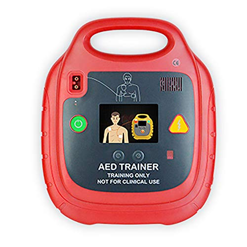Clicke AED-Trainer CPR-Lehrmaschine Defibrillator Erste-Hilfe-Einheit Englischsprachige Sprachansagen Mit 10 Zweisprachigen Vorprogrammierten Szenarien