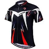 X-TIGER Camisetas de Ciclismo para Hombre,Camiseta Corta,Top de Ciclismo, Jerseys de Ciclismo, Ropa de Ciclismo,...