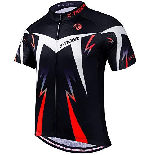 X-TIGER Camisetas de Ciclismo para Hombre, Camiseta Corta, T