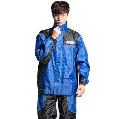 AINUO Pantalones de Lluvia al Aire Libre Pantalones de Lluvia Set Montar a Caballo Motocicletas eléctricas Hombres Adultos y Mujeres Poncho Impermeable a Prueba de Agua (Color : Blue, tamaño :