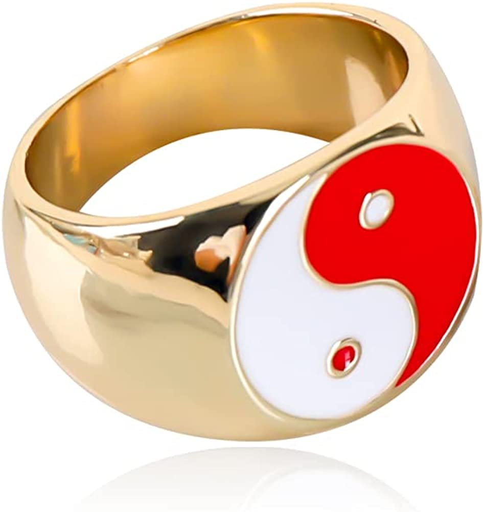 Cute Acrylic Resin Rings for Women,Chunky Ring Transparent Stacking for Teen Girls