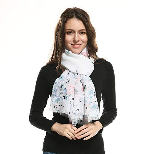 Dhmm123 Bufandas cálidas Mujeres de impresión Bufandas largas delicadas Bufanda rápida mantón Abrigo Estola Larga