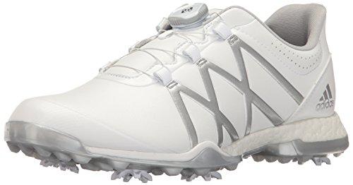 adidas Women's Adipower Boost BOA Golf Shoe, White/Matte Silver, 5 M US