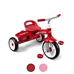 The Red Rider Trike offers convenience, comfort, and fun! Adjustable grow with me seat and solid steel frame allow years of riding fun. Riders can bring their favorite treasures along for the ride in the covered storage bin, located on the rear of th...