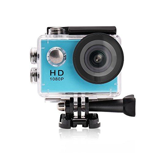 YUNTAB A9 Sport Action Camera Mini 30-Meter Impermeabile FHD 1080p Sport DV Video Helmet Cam con Biking, Swimming, Diving 1 Battery & 1 EU Charger