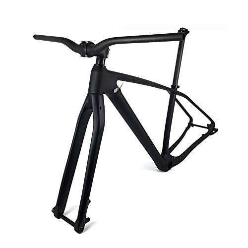 GONGJU Completa del carbón MTB de la Bicicleta de Marcos 27.5er 29er Marco de Bicicleta de montaña de Carbono + Tenedor + Seaptost + Stem + Manillar Conjunto,27.5er 17inch Matte