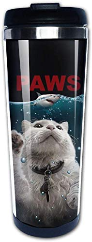 Cat Paws Funny Shark Coffee Cups Stainless Steel Water Bottle Cup Travel Mug Coffee Tumbler for Women/Men/Kids/Teens/Adults Home Outdoor