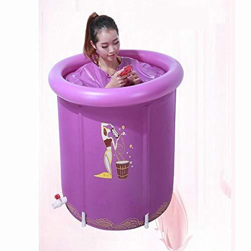 H&H Bain Gonflable De Tubulure De Cuve De Tubing De Cuve De Baignoire Adulte De Baignoire Économiseuse d'eau De Pliage Plus Épais,Couvert,75 * 70Cm