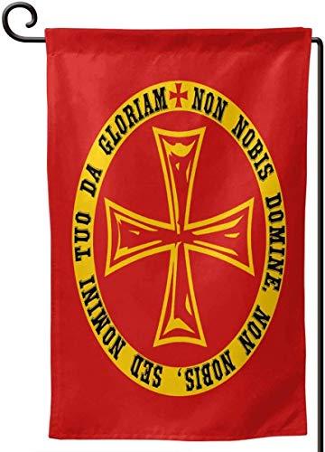 Kxxhvk Wache Flagge Ritter Templer Kreuzfahrer Rotes Kreuz Platz 12,5 x 18 Zoll Gartenfahne im Freien Home Yard Flagge Familienfeier Match Flagge dekorative Flagge