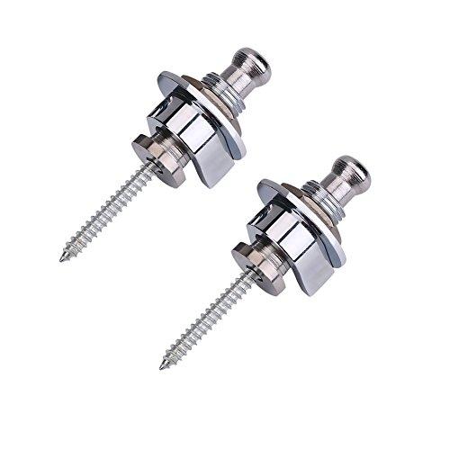 Bnineteenteam 2PCS Guitar Strap Lock Metal Straplocks Antideslizante Quick Release Straplocks Accesorio...