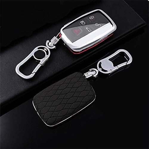 gipoiSD Galvanized alloy+ leather Car Key Case Cover Car key protective shell,For Jaguar XE XJ XJL XF C-X16