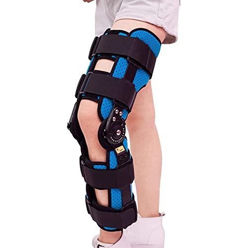 WANGXNCase Soporte De Rodilla Ajustable, Rodillera Ajustable con Bisagras Estabilizador De Férula ROM Soporte De Rodilla para Artritis LCA Menisco Lesión del Ligamento Desgarro