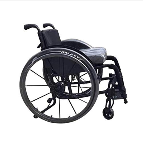 SuRose Luxussport-Rollstühle 12kg Lghtweight Folding Ergonomisch Bequeme Armlehne Schaukel Beinauflage 100kg Lastaufnahme 42 * 42cm,Black