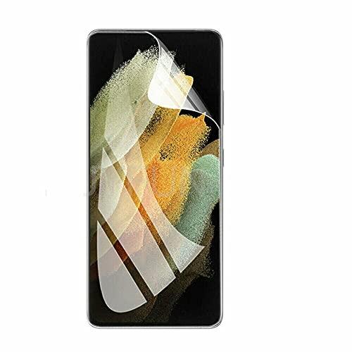 DRLYQWJF 2 + 2 per Samsung Galaxy S21 Ultra / S21 + / S21 Proteggi Schermo Idrogel/Obiettivo della Fotocamera (S21 Ultra,2 Front Films+2 Camera Protector)
