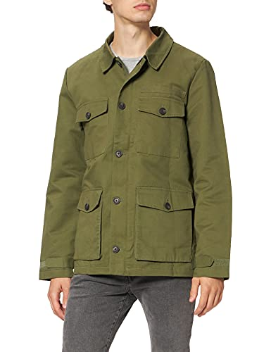 Marca Amazon - find. Guerrera de Algodón Hombre, Verde (Khaki), L, Label: L