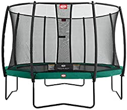 BERG Trampoline Champion 14ft with Safety Enclosure Net Deluxe | Trampoline for Kids, High Performance & Safety Features, Longer Lifetime Warrenty, Jump Higher with TwinSpring and Airflow