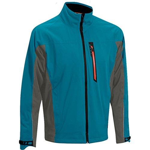 2015 Mizuno Impermalite F10 Flex Rain Full Zip Waterproof Mens Golf Jacket Ink Blue/Charcoal Large