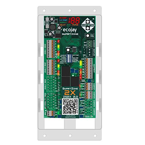 SmartZone-2X : 2 Zone HVAC Controller KIT w/Temp Sensor; Dual climate control to replace Honeywell, EWC, Zonefirst, Zonex, Durozone & more