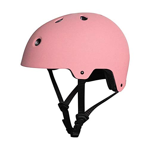 Claean-Acces-Home Rollerhelm Bunter Verstellbarer Riemen Outdoor Sport Skateboard Skating Light Helm Helm Fahrrad Fahrrad Fahrrad Helm Schutz Erwachsene Kinder-Rosa_S 50-56 cm