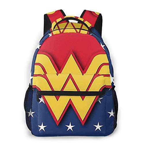 IUBBKI Wonder Woman Mochila Informal Cute Cartoon School Student Bookbag Mochila para Hombres y Mujeres Bolsa de Viaje Mochila Kid Child Girl Mochila al Aire Libre Mochilas de Alta Capacidad