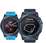 Zeblaze Vibe 3GPS Smartwatch Heart Rate Tracking Running GPS Multi Sports Smart Watch IP67 Reloj Resistente al Agua para Android/iOS-Azul