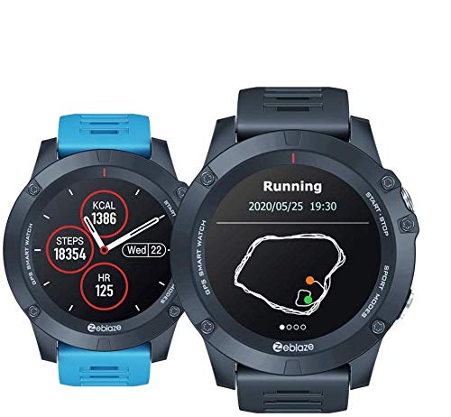 Zeblaze Vibe 3GPS Smartwatch Heart Rate Tracking Running GPS Multi Sports Smart Watch IP67 Reloj Resistente al Agua para Android/iOS-Azul