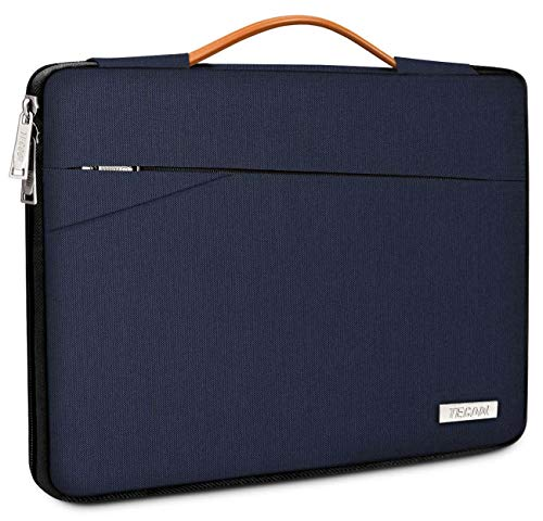 TECOOL 13-Inch Laptop Sleeve Protective Case Cover Carry Bag with Handle and Front Pockets for 2018-2020 MacBook Air/Pro 13, Dell XPS 13, HP Envy 13, 12.9 iPad Pro, 12.3 Surface Pro 7/6/5, Dark Blue
