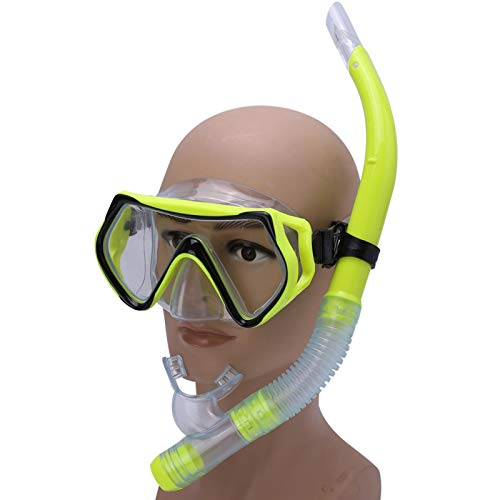 Germerse Diving Goggles, Light Weight Diving Mask, Snorkeling Adult Diving Goggles Underwater Mask Snorkel for Beginner Diving Underwater Men(Yellow)