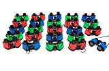24 Binoculars for Kids - Colorful Assortment of Kids Binoculars Great for Safari Party Supplies - Fun Toy Binoculars for Outside Nature Toys, Classrooms, Sightseeing, Birdwatching, & Pretend Play