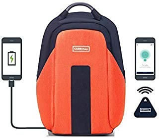 Carriall Vasco Smart Anti Theft Laptop Backpack with Bluetooth functionality (Orange)