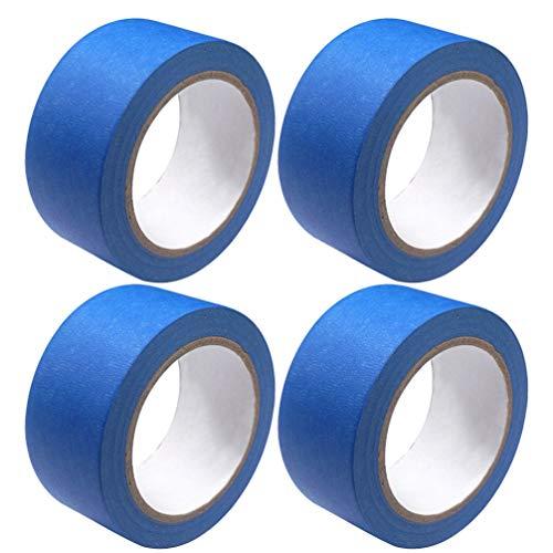 ULTECHNOVO 4pcs Resistant Adhesive Blue Masking Tape - Blue Premium Masking Tape UV Resistant Painting - Heat Crepe Paper For 3D Printer Traceable