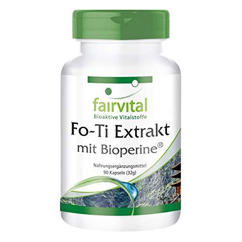 Fo-Ti Extrakt mit BioPerine® - HOCHDOSIERT - He Shou Wu - VEGAN - 90 Kapseln