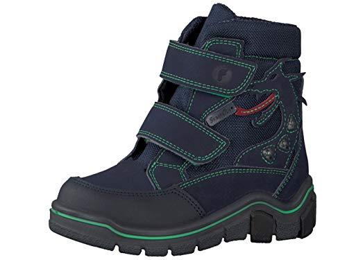 RICOSTA Pepino Jungen Winterstiefel GRISU, WMS: Weit, wasserfest, Winter-Boots Outdoor-Kinderschuhe warm Kind-er,See/Ozean/neongrün,30 EU / 11.5 UK