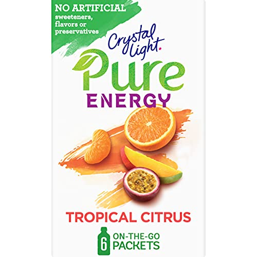 Crystal Light Pure Tropical Citrus Energy Drink Mix with Caffeine and...