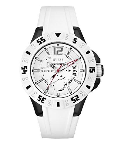 Guess Herren-Armbanduhr XL Magnum Analog Quarz Silikon W0034G5