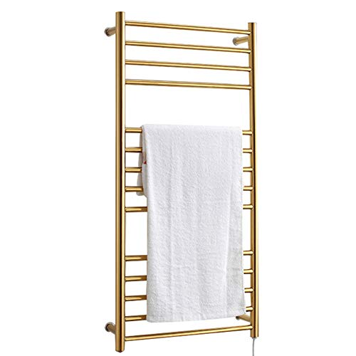 Sale!! BILLY'S HOME Wall-Mounted Towel Warmer, Luxury Electric Heated Towel Drying Rack with 14 Bars...