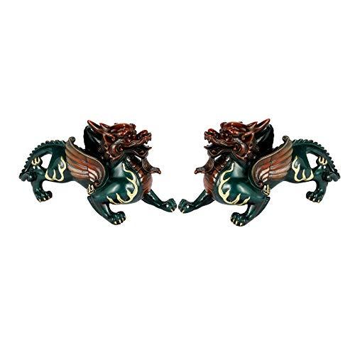 Estatuas Decorativas De cobre puro de Pi Xiu Lucky Adornos Crafts Home Office de escritorio Decoración regalos de apertura de alta temperatura for colorear no se desvanece Salon Estatuas Decorativas