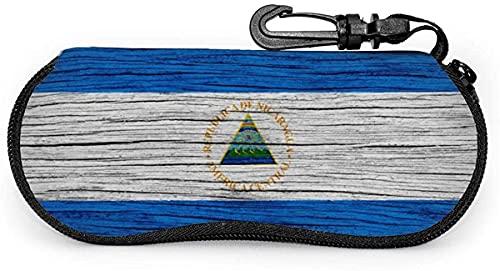 Nicaragua - Funda para gafas con mosquetón, diseño de bandera de Nicaragua, color lavanda