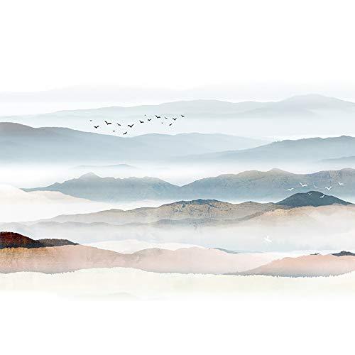 Muursticker Chinese Stijl Grote Traditionele Oosterse Schilderstijl Schil-En-Plakbehang Landschapsschilderkunst Muurstickers in Drie Maten,C,M