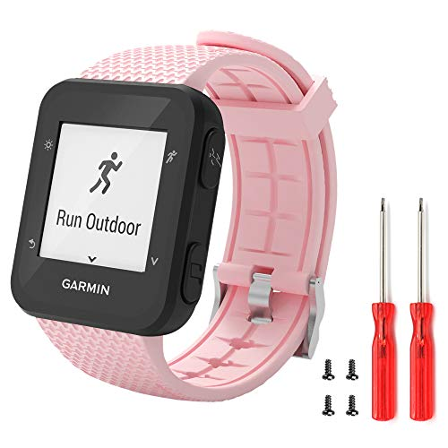 Ansblue Correa para reloj inteligente Garmin Forerunner 35 de silicona suave de repuesto para pulsera de fitness, accesorio deportivo compatible con reloj inteligente Forerunner 35, multicolor