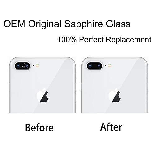 Vimour OEM Original Back Rear Camera Glass Lens Replacement with Adhesive and Repair Toolkit for iPhone 7 Plus and iPhone 8 Plus 5.5 inches