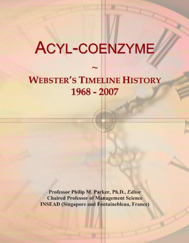 Acyl-coenzyme: Webster's Timeline History, 1968 - 2007